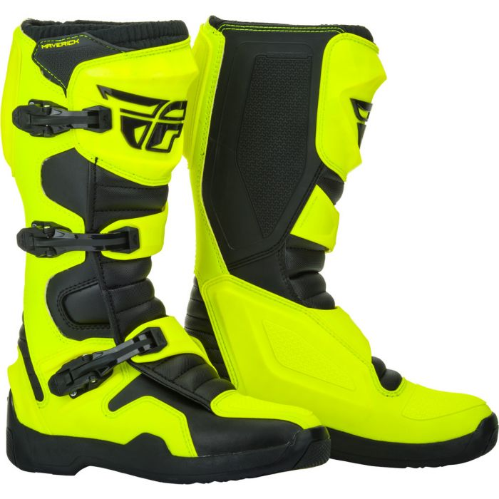 HI-VIZ//Black Fly Racing 2020 Maverik Boots 9