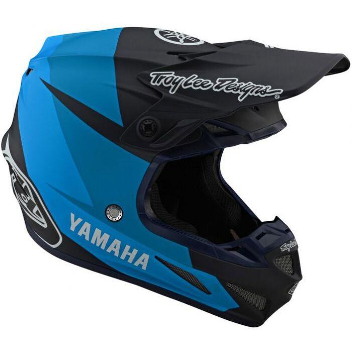 Troy Lee Designs SE4 Visor; Yamaha Black