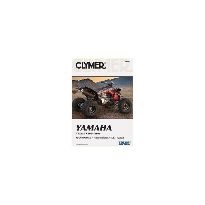 clymer manual m-287 yamaha yfz 450 04-09 | clymer manuals at bob's cycle  supply  bob's cycle supply