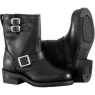 River Road Twin Buckle Engineer Boots Womens Black