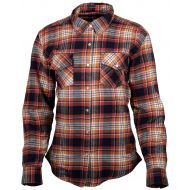 Cortech Missfit Womens Rding Flannel Shirt Red/Blue