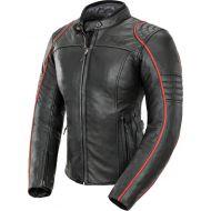 Joe Rocket Lira Leather Womens Jacket Black/Red