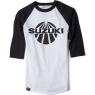 Factory Effex Suzuki Vintage Baseball T-Shirt White/Black