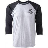 Factory Effex Honda Wing Baseball T-Shirt White/Black