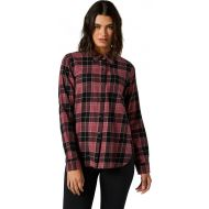 Fox Racing Pines Womens Flannel Shirt Dark Purple Haze