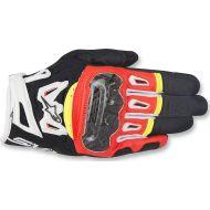 Alpinestars SMX-2 Air Carbon V2 Leather Gloves Black/Red/White/Yellow