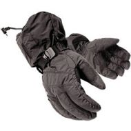 Mobile Warming Battery Heated Textile Gloves Black