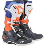 Alpinestars 2019 Tech 10 Boots Grey/Orange/Blue