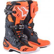 Alpinestars 2021 Tech 10 Boots Gray/Orange/Black/White