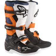 Alpinestars Tech 7S Youth Boots Black/Orange/Blue