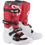 Alpinestars Tech 7S Youth Boots White/Red/Dark Gray
