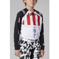 Shift MX Blue Label Flame Youth Jersey White/Black