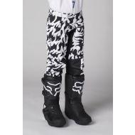 Shift MX Blue Label Flame Youth Pant White/Black