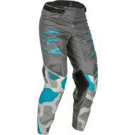 Fly Racing 2021 Kinetic K221 Youth Pants Grey/Blue