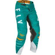 Fly Racing 2021 Kinetic Mesh Youth Pants White/Teal/Orange