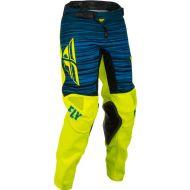 Fly Racing 2022 Kinetic Wave Youth Pants Hi-Vis/Blue