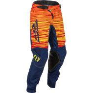 Fly Racing 2022 Kinetic Wave Youth Pants Navy/Yellow/Red