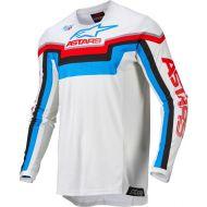 Alpinestars 2022 Techstar Quadro Jersey Off White/Neon Blue/Bright Red