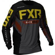 FXR 2021 Podium Off-Road MX Jersey Black/Charcoal/Rust/Gold