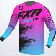 FXR 2022 Clutch Jersey E-Pink/Sky Blue/Black