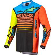 Alpinestars 2022 Racer Compass Youth Jersey Black/Fluo Yellow/Coral