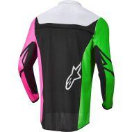 Alpinestars 2022 Racer Compass Youth Jersey Black/Neon Green/Fluo Pink