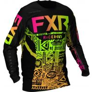 FXR 2021 Podium Youth MX Jersey Sherbert Aztec