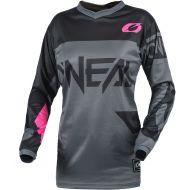 O'Neal 2021 Element Racewear Youth Girls Jersey Gray/Pink