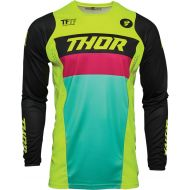 Thor 2021 Pulse Racer Youth Jersey Acid/Black