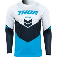 Thor 2022 Sector Chev Youth Jersey Blue/Midnight
