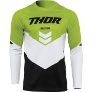 Thor 2022 Sector Chev Youth Jersey Black/Green