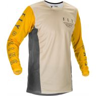 Fly Racing 2021 Kinetic K121 Youth Jersey Mustard/Stone/Grey