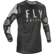 Fly Racing 2021 Kinetic K221 Youth Jersey Black/Grey