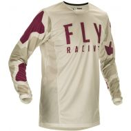 Fly Racing 2021 Kinetic K221 Youth Jersey Stone/Berry