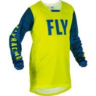 Fly Racing 2022 Kinetic Wave Youth Jersey Hi-Vis/Blue