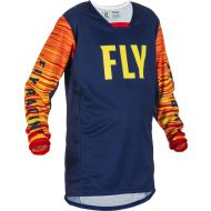 Fly Racing 2022 Kinetic Wave Youth Jersey Navy/Yellow/Red