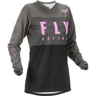 Fly Racing 2022 F-16 Youth Jersey Grey/Black/Pink