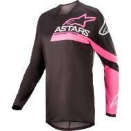 Alpinestars 2022 Fluid Chaser Womens Jersey Black/Fluo Pink
