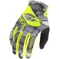 O'Neal 2022 Matrix Camo Gloves Grey/Neon Yellow