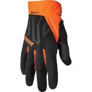 Thor 2022 Draft Gloves Black/Orange