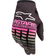 Alpinestars 2022 MX Radar Youth Gloves Black/Neon Green/Fluo Pink