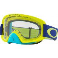 Oakley O Frame 2.0 MX Goggles Lime Blue w/Clear