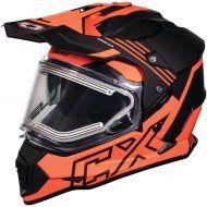 Castle X CX Electric Mode Dual Sport Snow Helmet Agent Flo Orange