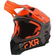 FXR Helium Race Division Helmet Orange/Black/Charcoal