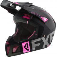 FXR Clutch Evo Helmet Black/Charcoal/Electric Pink