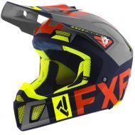 FXR Clutch Evo Helmet Navy/Light Grey/Nuke/Hi Vis