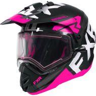 FXR Torque X Evo Helmet w/Electric Shield Black/Fuchsia/Charcoal