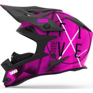 509 Altitude Snowmobile Helmet Aura Pink/White with Fidlock