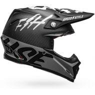 Bell 2020 Moto 9 Carbon Flex Helmet Fasthouse Matte/Gloss Black/White/Gray