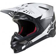 Alpinestars S-M10 Supertech Helmet Matte Black Carbon/White